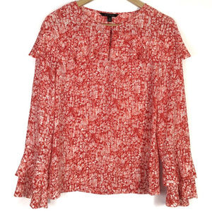 Banana Republic Floral Tiered Bell Sleeve Roomy XS
